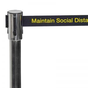 Social Distance Barrier close up